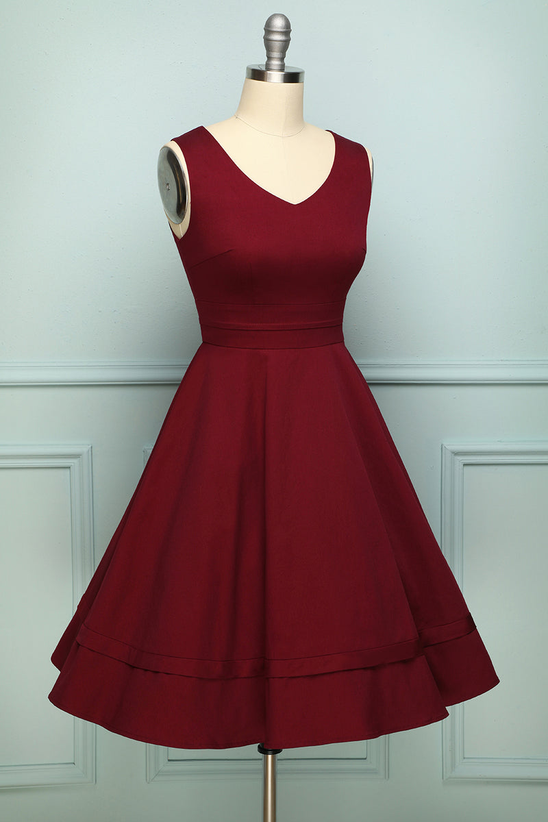 Load image into Gallery viewer, Burgundy Plus Size Dress