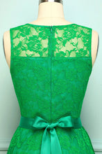 Load image into Gallery viewer, Green Lace Dress