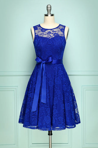 Lace Royal Blue Dress