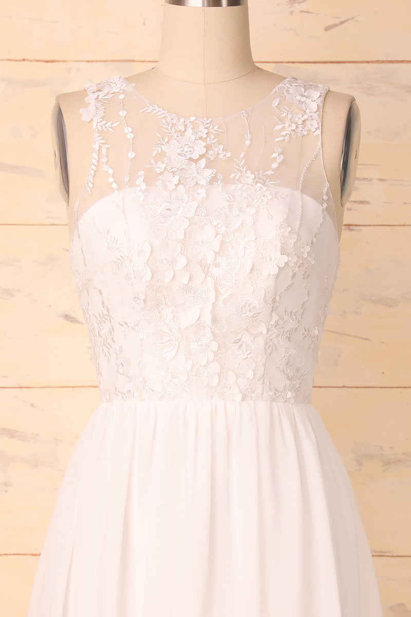 Load image into Gallery viewer, White Appliques Dress