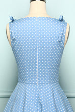 Load image into Gallery viewer, Blue Shoulder Bow Dress