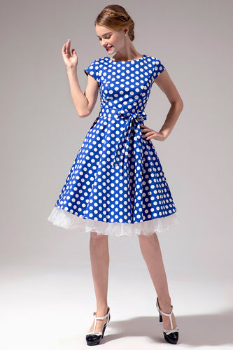 Polka Dots 1950s Swing Dress