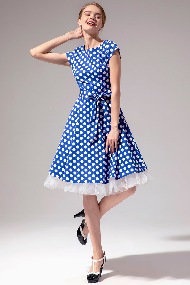 Load image into Gallery viewer, Polka Dots 1950s Swing Dress