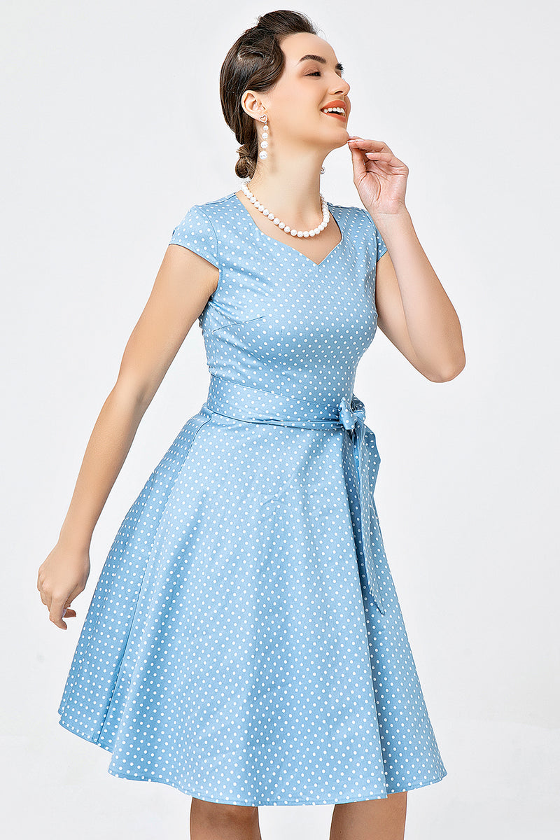 Load image into Gallery viewer, Blue 1950s Swing