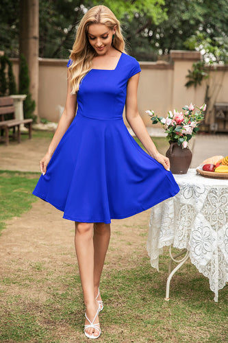 Square Neck Swing Vintage Dress