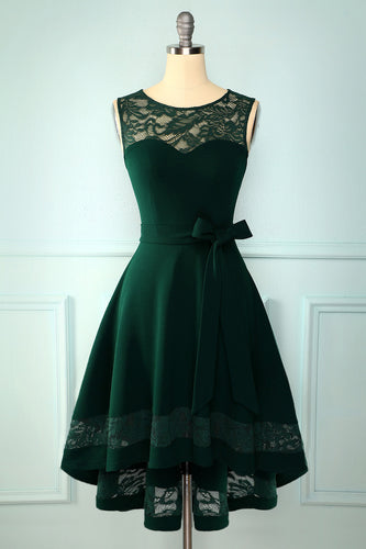 Dark Green High Low Dress