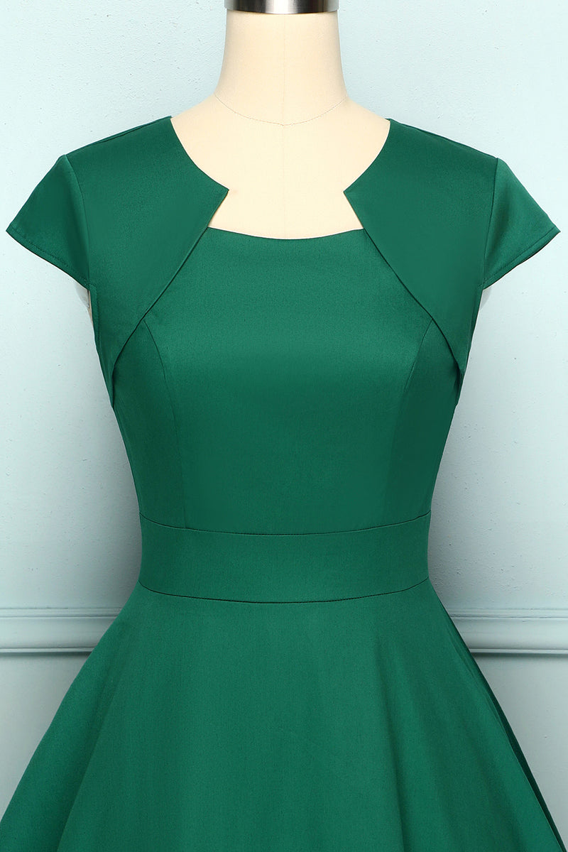 Load image into Gallery viewer, Asymmetrical Neck Swing 1950s Dress