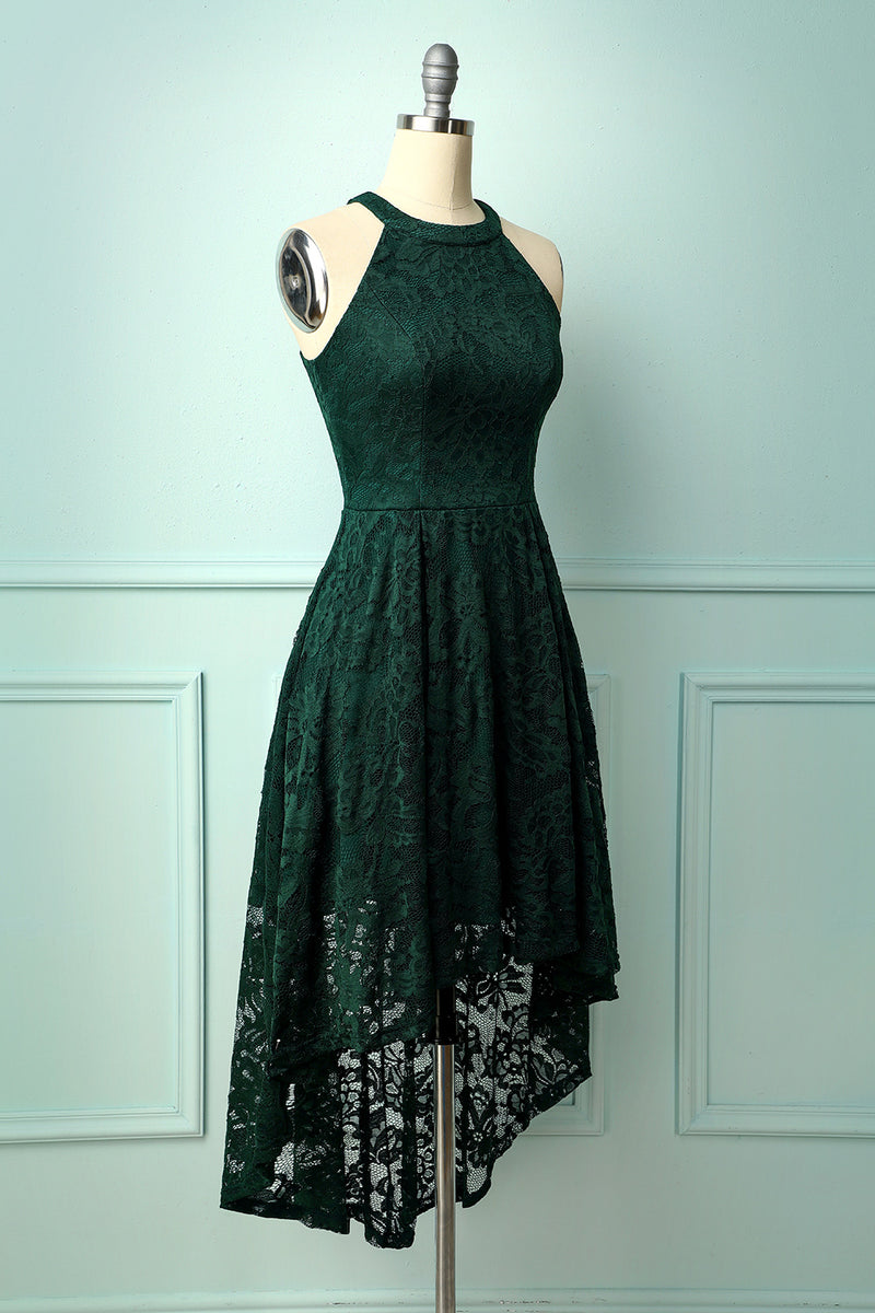 Load image into Gallery viewer, Asymmetrical Green Lace