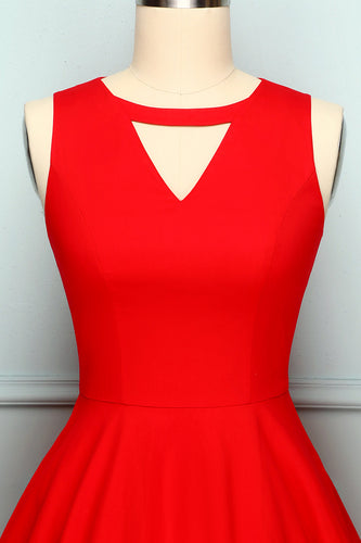 1950s Red Swing Dress
