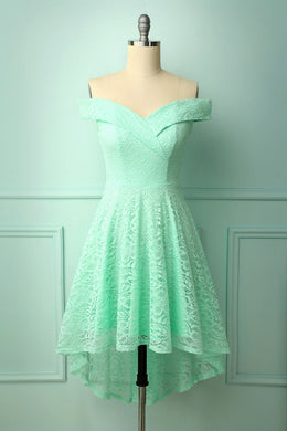 Off-shoulder Mint Dress