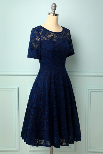 Bridesmaid Lace Midi Dress