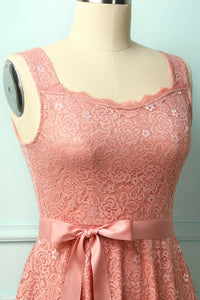 Pink Sleeveless Lace