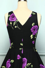 Load image into Gallery viewer, 1950s V Neck Purple
