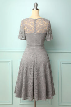 Grey Bridesmaid Lace