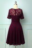 Load image into Gallery viewer, Burgundy Bridesmaid Lace