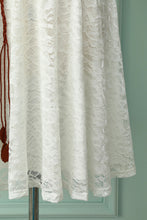 Load image into Gallery viewer, White Lace Midi Dress