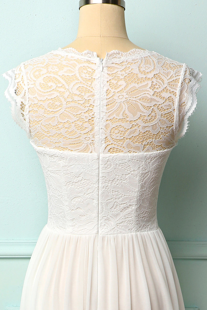 Load image into Gallery viewer, Formal White Lace Dress