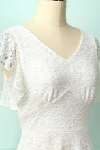 Load image into Gallery viewer, High-low White Lace Dress