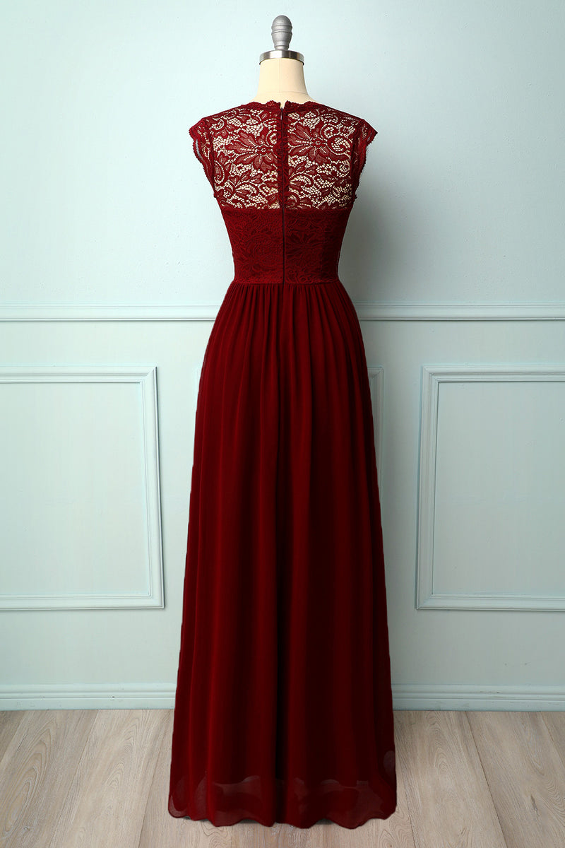 Load image into Gallery viewer, Formal Long Lace Dress