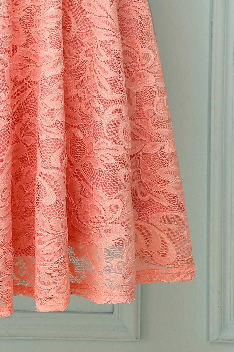 Load image into Gallery viewer, Blush Midi Lace Bridesmaid