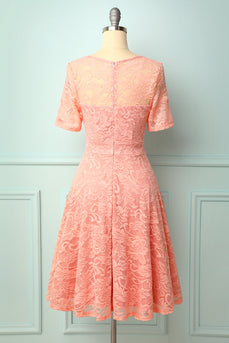 Blush Midi Lace Bridesmaid