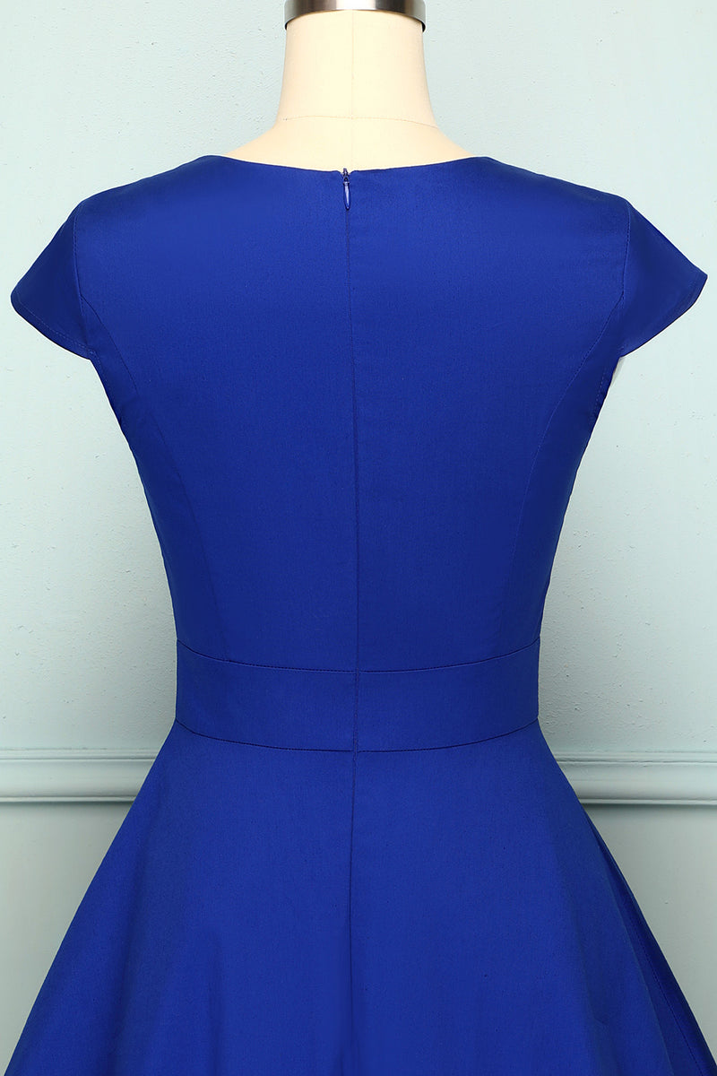 Load image into Gallery viewer, Royal Blue Asymmetrical Neck