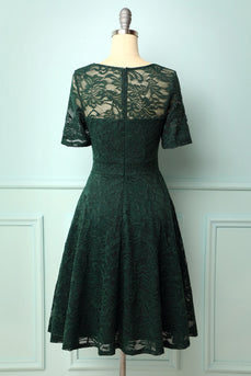Dark Green Bridesmaid Lace