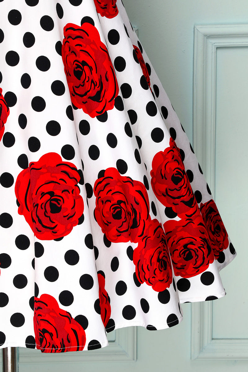 Load image into Gallery viewer, 1950s Dots Dress