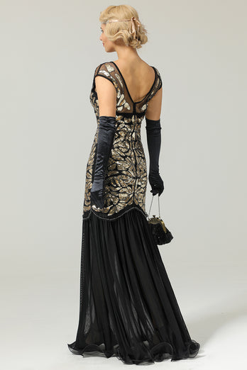1920s Sequined Flapper Dress