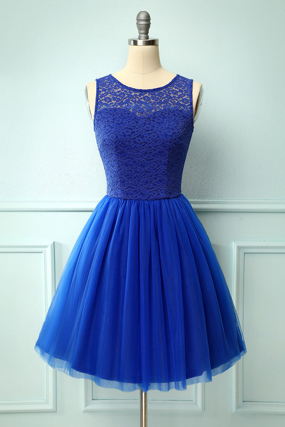 Royal Blue Lace Homecoming