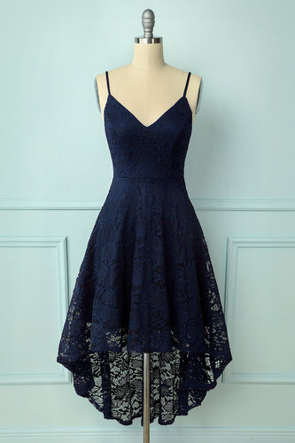 Straps Navy Lace Dress