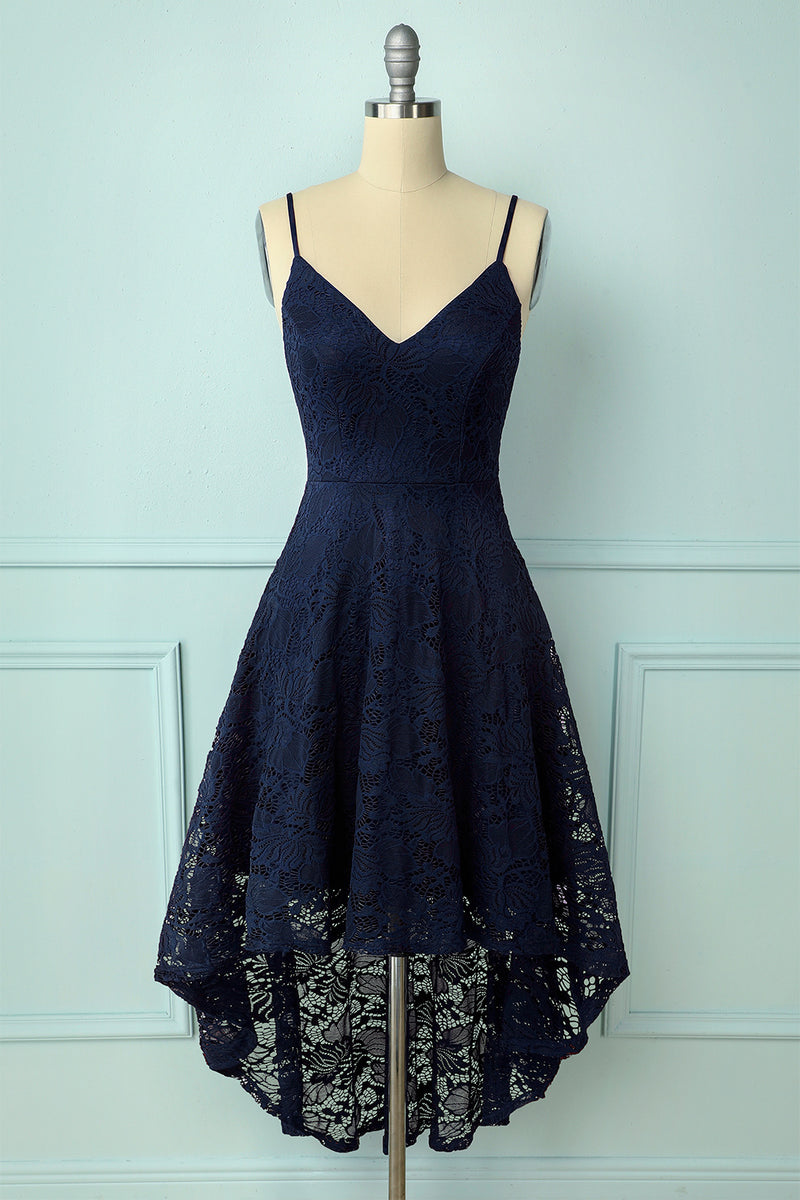 Load image into Gallery viewer, Straps Navy Lace
