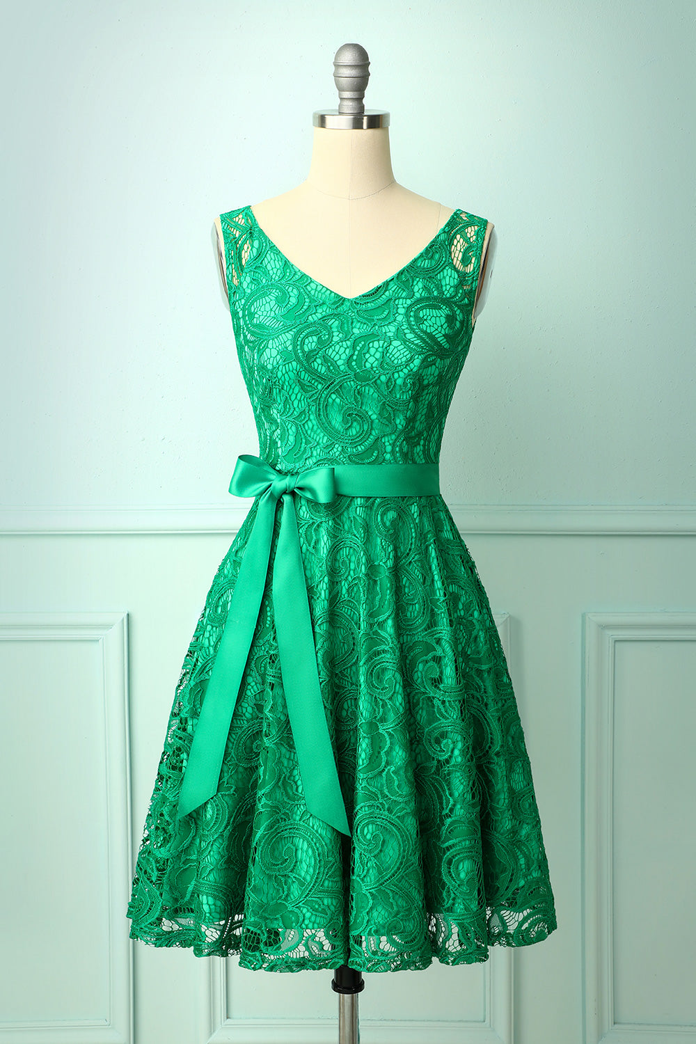 Green Lace Bridesmaid