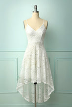 Load image into Gallery viewer, Straps Lace White Dress