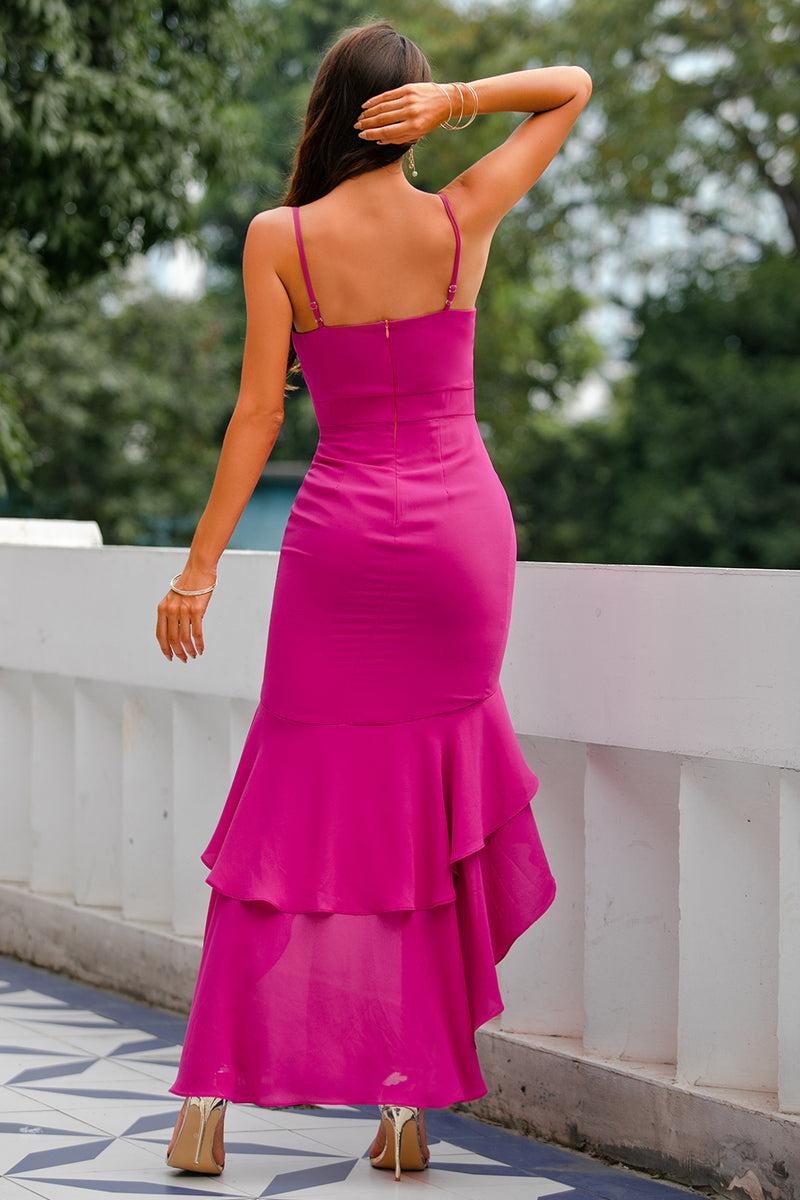 Load image into Gallery viewer, High-Low Party Bridesmaid Dress