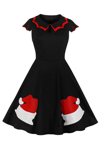 1950s Christmas Swing Dress
