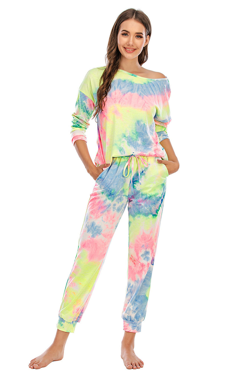 Load image into Gallery viewer, Two Piece Dye Sleepwear