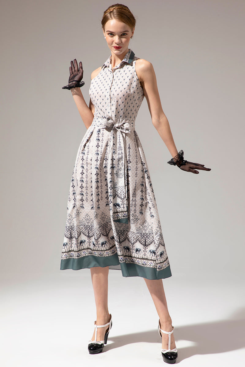 Load image into Gallery viewer, Sleeveless Print Dress