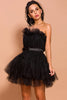 Load image into Gallery viewer, Black Tulle Short Party Dress