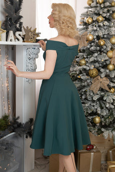 Green Off The Shoulder Party Dress