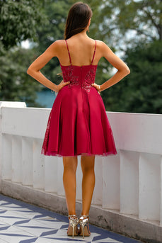 Red Homecoming Party Dress