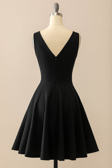 Black Stretchy Swing Dress