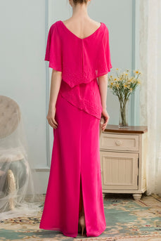 A-line Long Chiffon Bridesmaid Dress With Beading