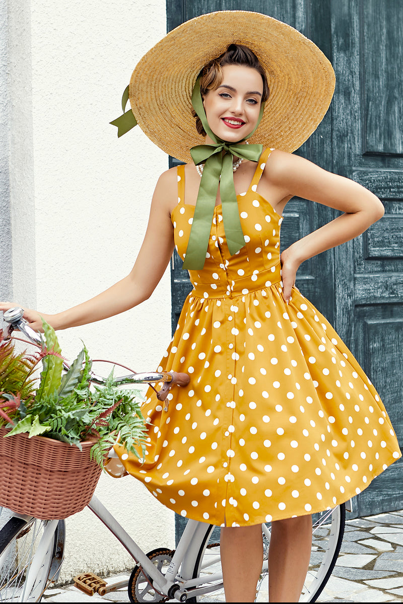 Load image into Gallery viewer, Polka Dots Vintage Dress