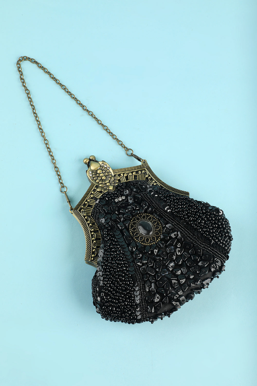 Black Vintage Evening Bag