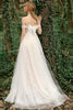 Load image into Gallery viewer, Off the Shoulder Wedding Dress with Bowknot