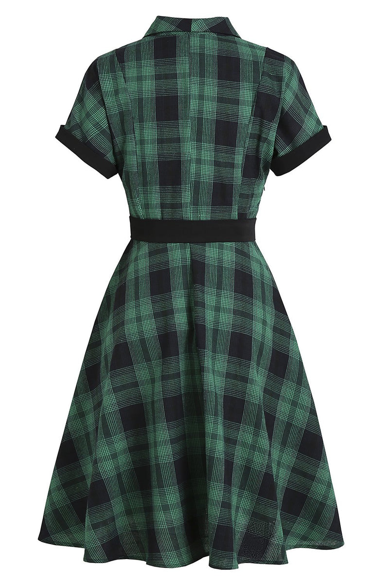 Load image into Gallery viewer, Plaid 1950s Vintage Dress
