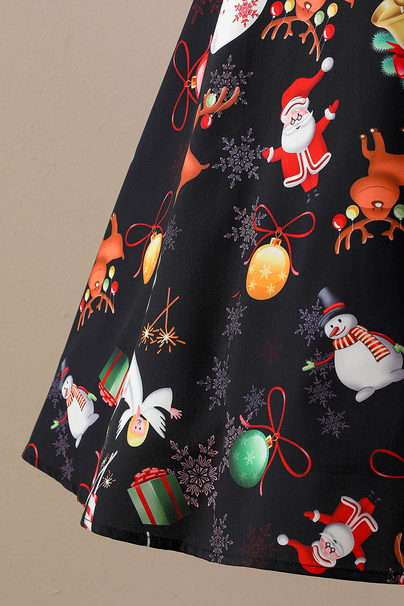 Load image into Gallery viewer, Retro Halter Christmas Party Dress
