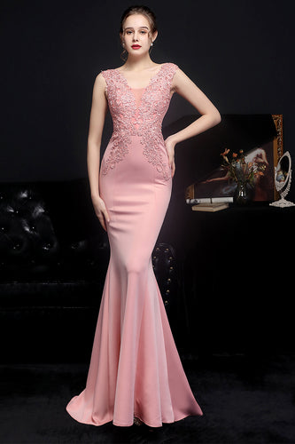 Blush Mermaid Prom Dress
