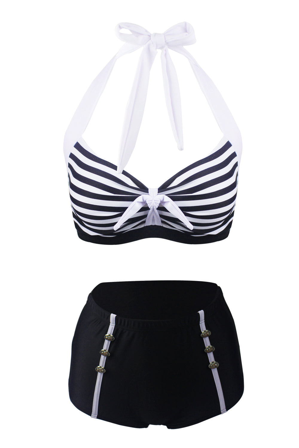 Stripes Two Piece Bikini Swimsuit